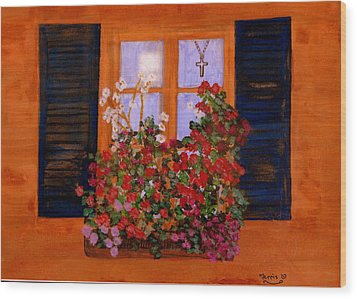 Tuscany Window Box Wood Print