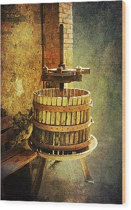 Tuscany Wine Barrel Wood Print
