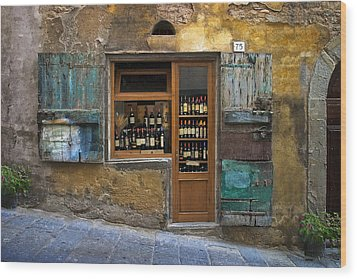 Tuscany Wine Shop Wood Print