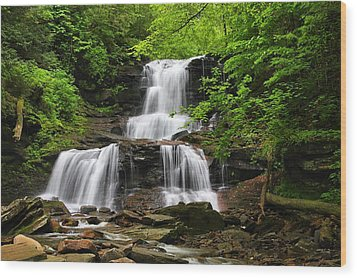 Tuscarora Falls Wood Print by Mike Farslow