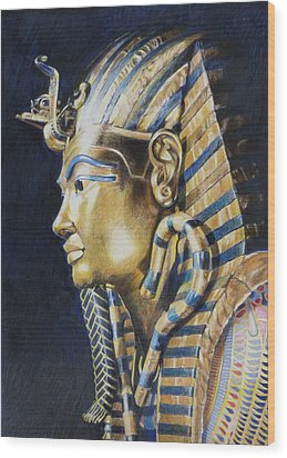 Tutankhamon Wood Print by Constance Drescher