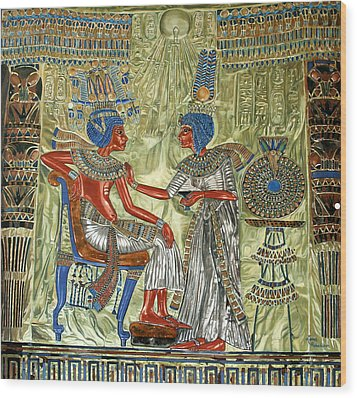 Tutankhamon's Throne Wood Print