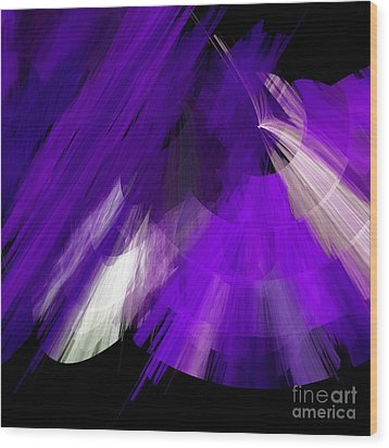 Tutu Stage Left Abstract Purple Wood Print by Andee Design