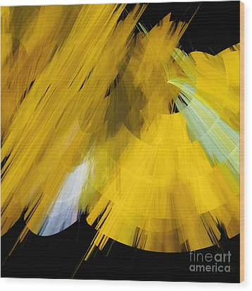 Tutu Stage Left Abstract Yellow Wood Print by Andee Design