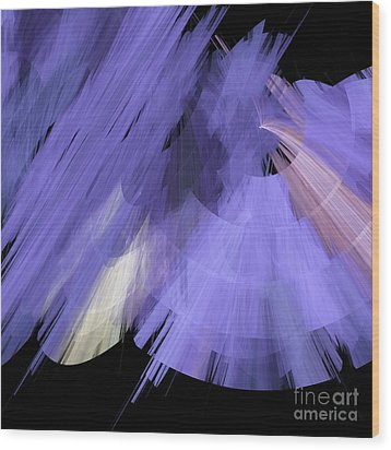 Tutu Stage Left Periwinkle Abstract Wood Print by Andee Design