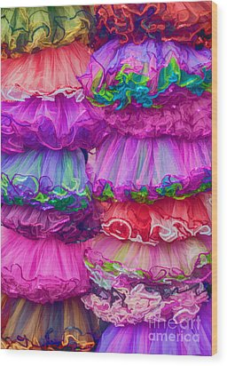 Tutus By The Dozen Wood Print by Kathleen K Parker