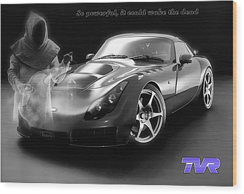 Tvr - Waking The Dead Wood Print by ISAW Gallery