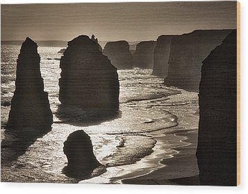 Twelve Apostles #3 - Black And White Wood Print