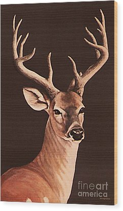 Wood Print featuring the painting Twelve Pointer by DiDi Higginbotham