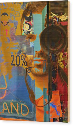 Twenty Percent Of Creativity  Wood Print by Empty Wall