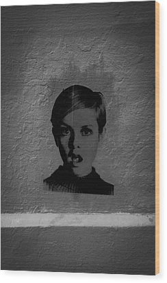 Twiggy Street Art Wood Print by Louis Maistros