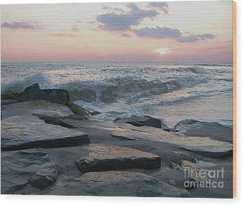 Twilight At Cape May In October Wood Print by Eric  Schiabor