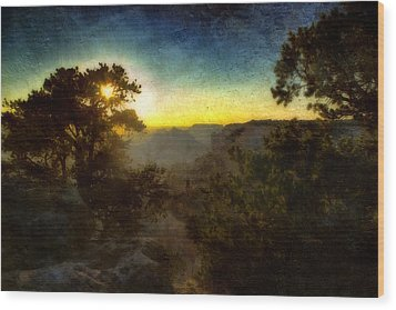 Twilight At The Canyon Wood Print by Ellen Heaverlo