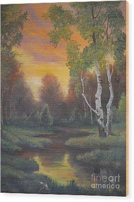 Twilight Fall  Wood Print by Sorin Apostolescu