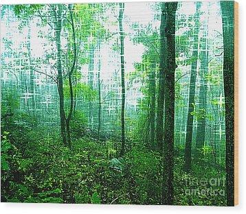 Twilight Forest Wood Print by Lorraine Heath