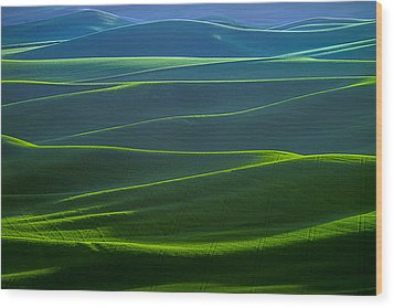 Twilight Hills Of The Palouse Wood Print
