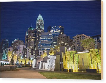 Twilight In Charlotte Wood Print by Serge Skiba