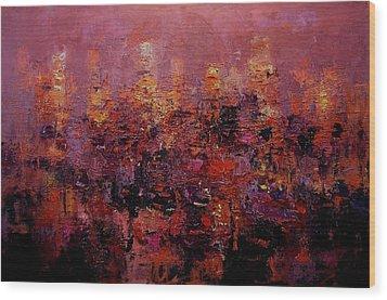 Twilight In L A Wood Print by R W Goetting