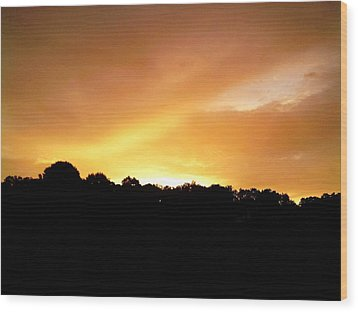 Wood Print featuring the photograph Twilight In Orange by Carlee Ojeda