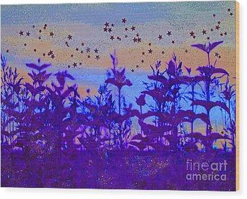 Twilight Meadow Magic Wood Print by First Star Art