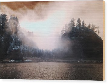 Twilight Moments Wood Print by Rebecca Parker