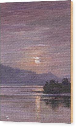 Twilight Wood Print by Natasha Denger