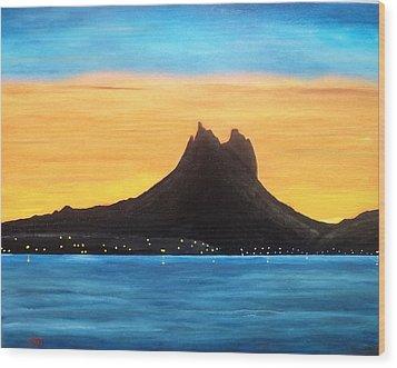Twilight On San Carlos Sonora Wood Print by Jorge Cristopulos