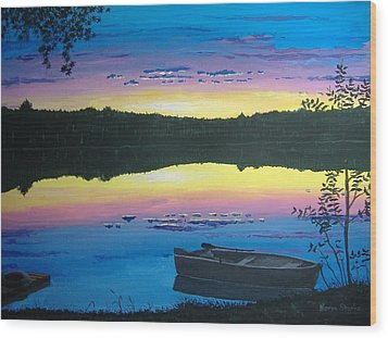 Twilight Quiet Time Wood Print by Norm Starks