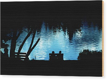 Wood Print featuring the photograph Twilight Reverie by Mike Flynn