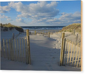 Wood Print featuring the photograph Golden Hour Beach by Dianne Cowen
