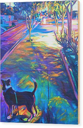 Scout At Twilight Wood Print by Bonnie Lambert