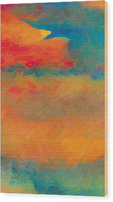 Wood Print featuring the painting Twilight Whispers by The Art of Marsha Charlebois
