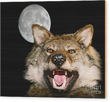 Twilight's Full Moon Wood Print
