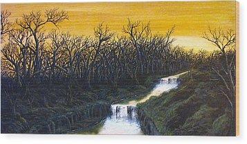 Twilight's Last Breath Wood Print by Pheonix Creations