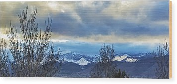 Wood Print featuring the photograph Twilight's Sky by Nancy Marie Ricketts