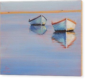 Twin Boats Wood Print