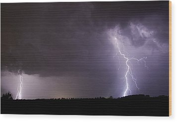 Twin Bolts Wood Print