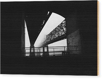 Twin Bridges Wood Print by Leon Hollins III