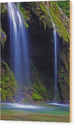 Twin Falls Wood Print by James Roemmling