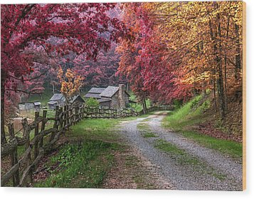 Twin Falls State Park Wood Print