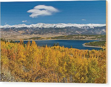Twin Lakes Colorado Autumn Snow Dusted Mountains Wood Print by James BO  Insogna