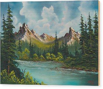 Twin Peaks River Wood Print by C Steele