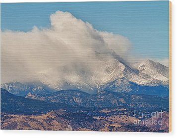 Twin Peaks Winter Weather View  Wood Print by James BO  Insogna