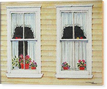 Twin Peeks Wood Print by Mary Ellen Mueller Legault