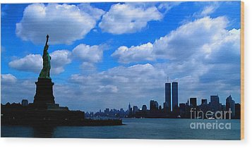 Twin Towers In Heaven's Sky - Remembering 9/11 Wood Print