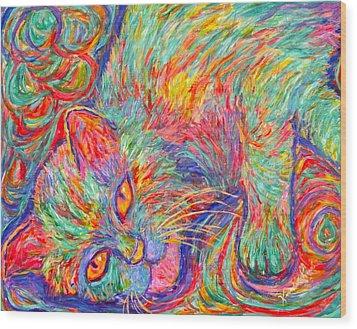 Twine Dreams Wood Print by Kendall Kessler