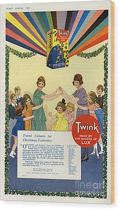 Twink 1923 1920s Uk Cc Lux Washing Wood Print by The Advertising Archives