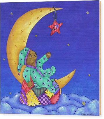Twinkle Little Star Wood Print by Tracy Campbell