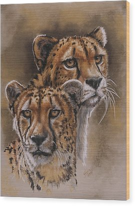 Twins Wood Print by Barbara Keith