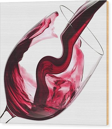 Twisted Flavour Red Wine Wood Print by ISAW Gallery